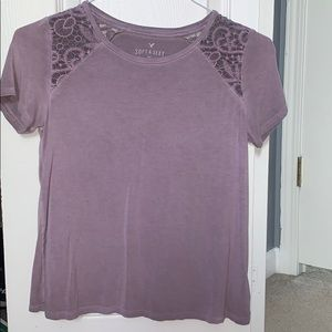 American Eagle purple lace t-shirt